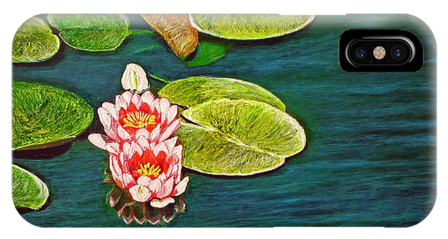 Water Lily IPhone X Case featuring the painting Serenity by Michael Durst