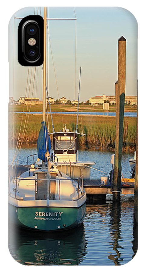 Boat IPhone X Case featuring the photograph Serenity by Suzanne Gaff