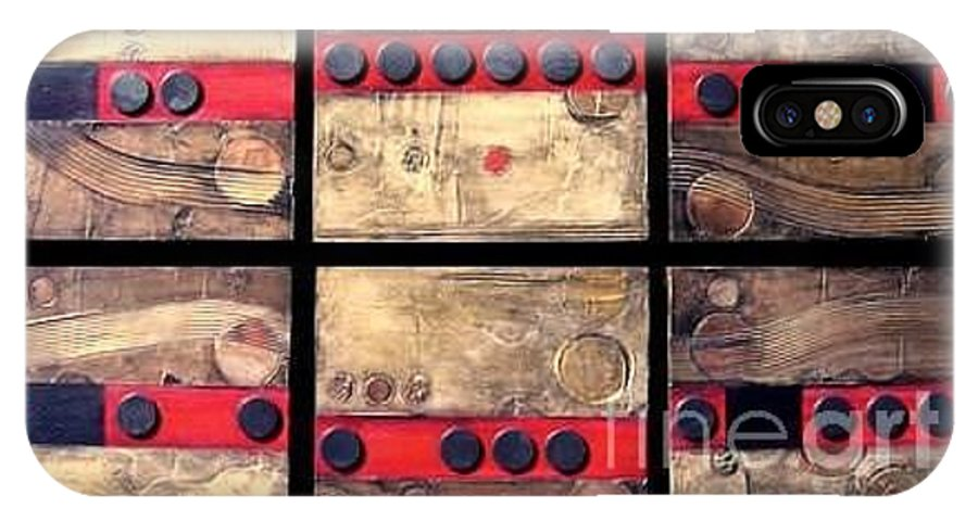 Set IPhone Case featuring the painting Seriously Metallic by Marlene Burns