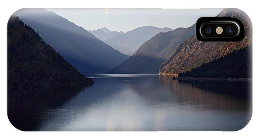 Seton IPhone X Case featuring the photograph Seton Lake Reflection by Pierre Leclerc Photography