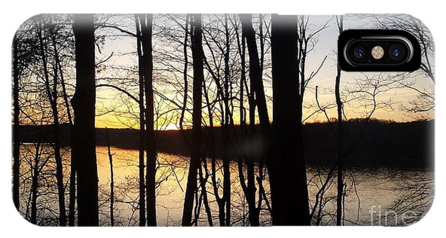 Monroe IPhone X Case featuring the photograph Setting Sun On Monroe Lake Bloomington Indiana by Scott D Van Osdol
