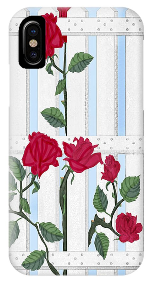 Roses IPhone Case featuring the painting Seven Roses For Mary by Anne Norskog