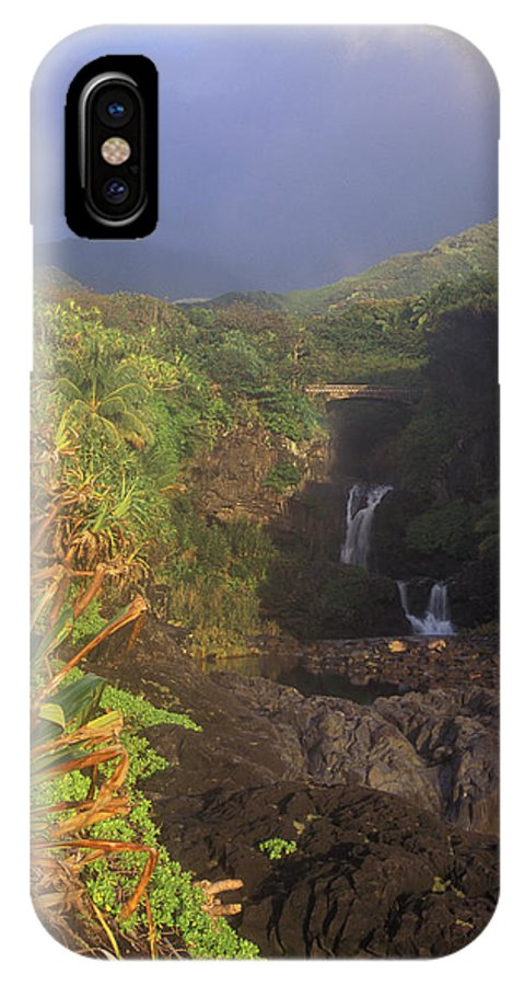 Hawaii IPhone X Case featuring the photograph Seven Sacred Pooling Morning by John Burk