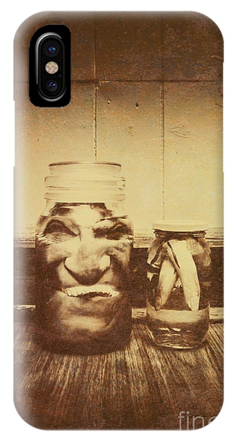 Monster IPhone X Case featuring the photograph Severed And Preserved Head And Hand In Jars by Jorgo Photography - Wall Art Gallery