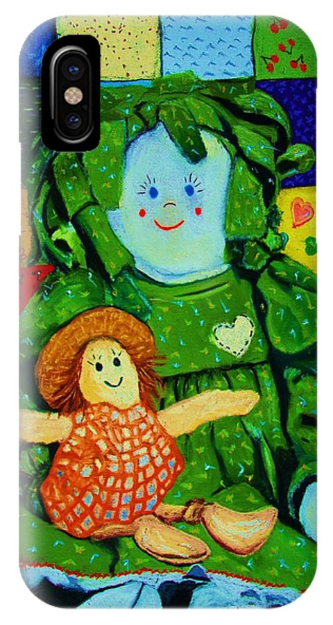 Dolls IPhone Case featuring the print Sew Sweet by Melinda Etzold