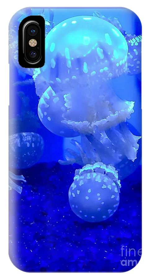 Blue IPhone X Case featuring the photograph Shades Of Blue by Michael Gailey