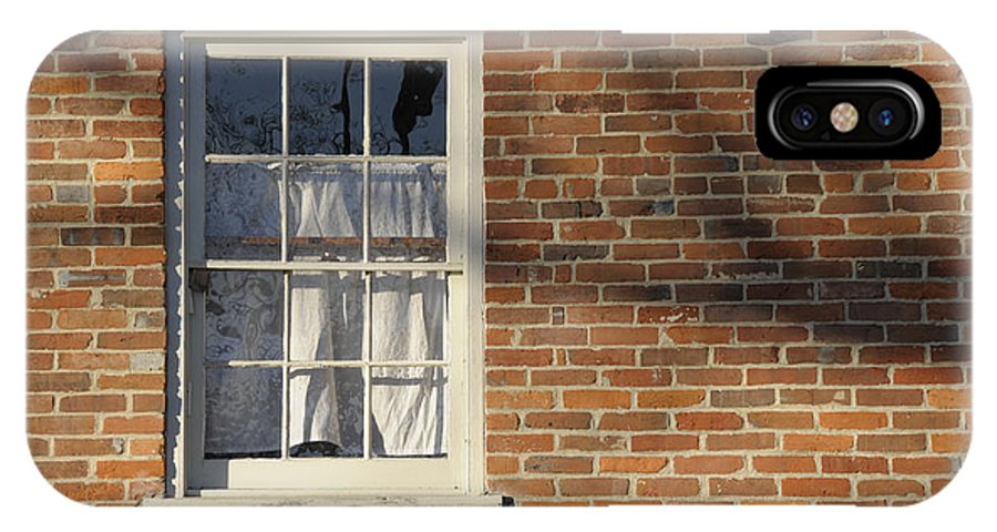 Window IPhone X Case featuring the photograph Shadow by David Arment