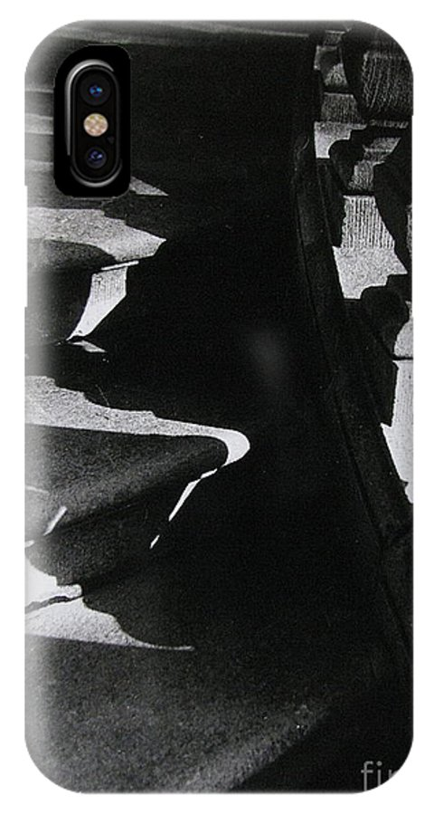 Shadows IPhone X Case featuring the photograph Shadow Steps by Colleen Kammerer