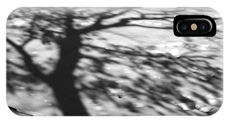 Shadow IPhone X / XS Case featuring the photograph Shadow Tree Herrick Lake Naperville Illinois by Michael Bessler