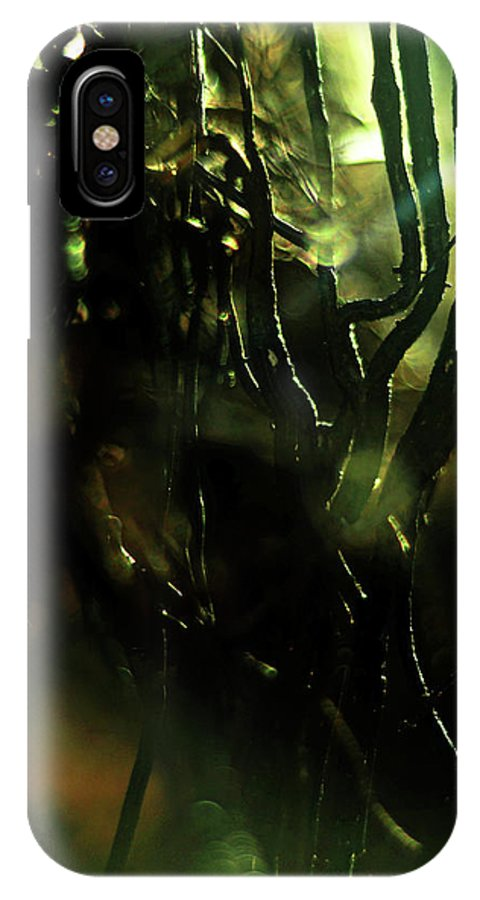 Shadows IPhone X Case featuring the photograph Shadows Hold Their Breath by Rebecca Sherman