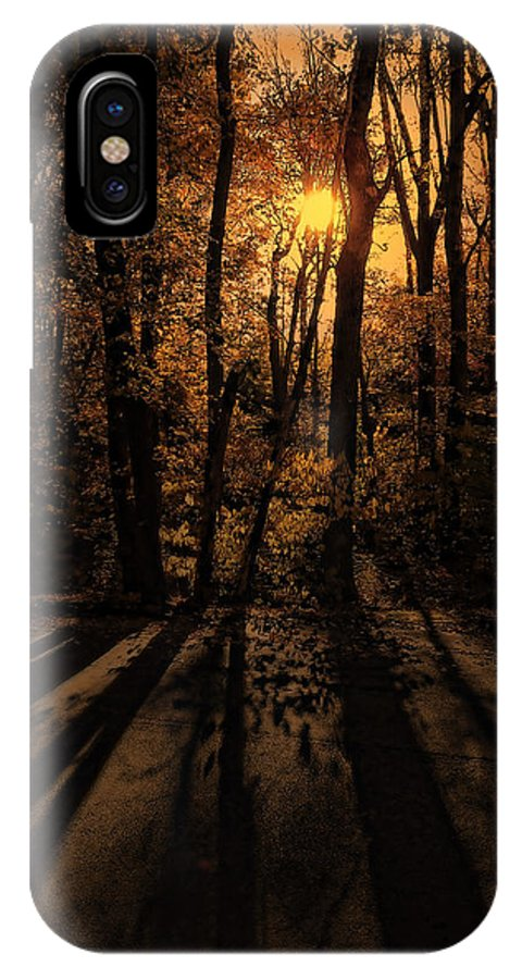 Tree IPhone X Case featuring the photograph Shadows by Lourry Legarde