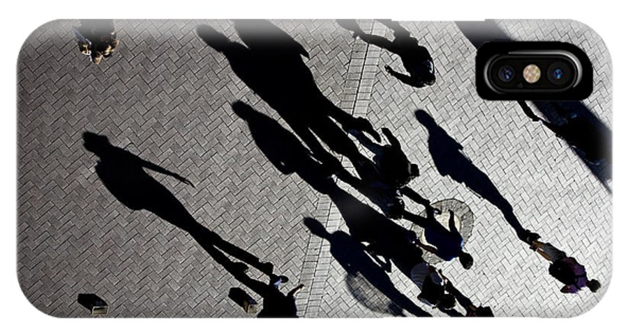Shadows People Abstract IPhone X Case featuring the photograph Shadows by Sheila Smart Fine Art Photography