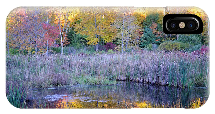 Fall Foliage IPhone X Case featuring the photograph Shady Pond by Tom Heeter