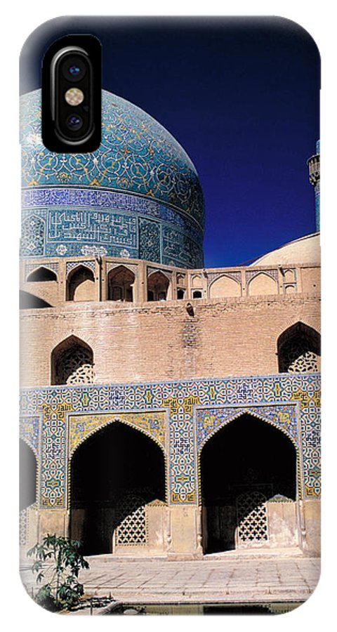 Islam IPhone X Case featuring the photograph Shah Mosque At Isfahan In Iran by Carl Purcell