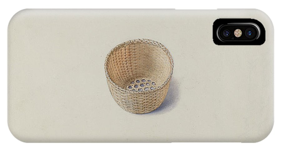 IPhone X Case featuring the drawing Shaker Basket by Alfred H. Smith