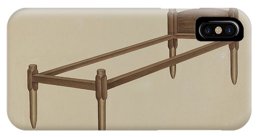 IPhone X Case featuring the drawing Shaker Bed by Lon Cronk