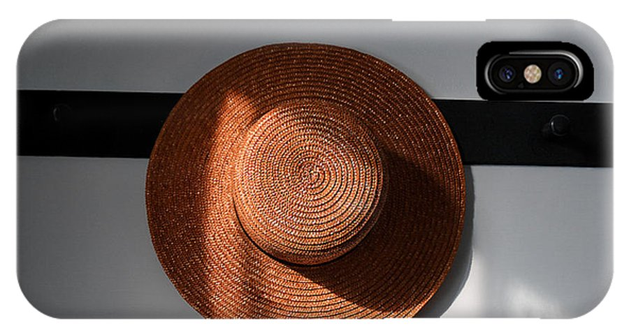 Shaker IPhone X / XS Case featuring the photograph Shaker Hat by Lone Dakota Photography