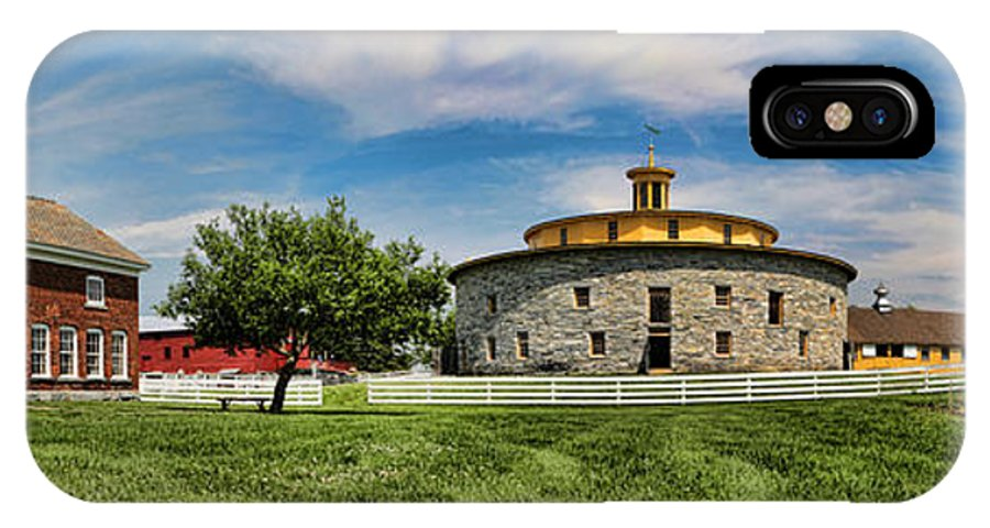 Shaker IPhone X Case featuring the photograph Shaker Pastoral Panorama by Stephen Stookey