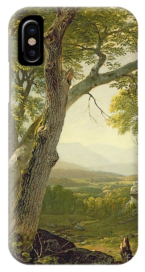 American Landscape; View; Romantic; Hudson River School; Mountains IPhone X Case featuring the painting Shandaken Ridge - Kingston by Asher Brown Durand
