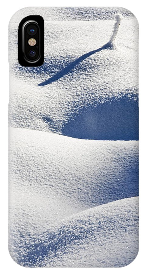 Snow IPhone X Case featuring the photograph Shapes of Winter by Mike Dawson