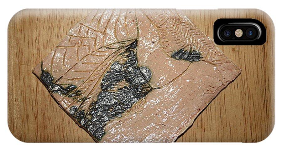 Jesus IPhone X Case featuring the ceramic art Sharpen - Tile by Gloria Ssali