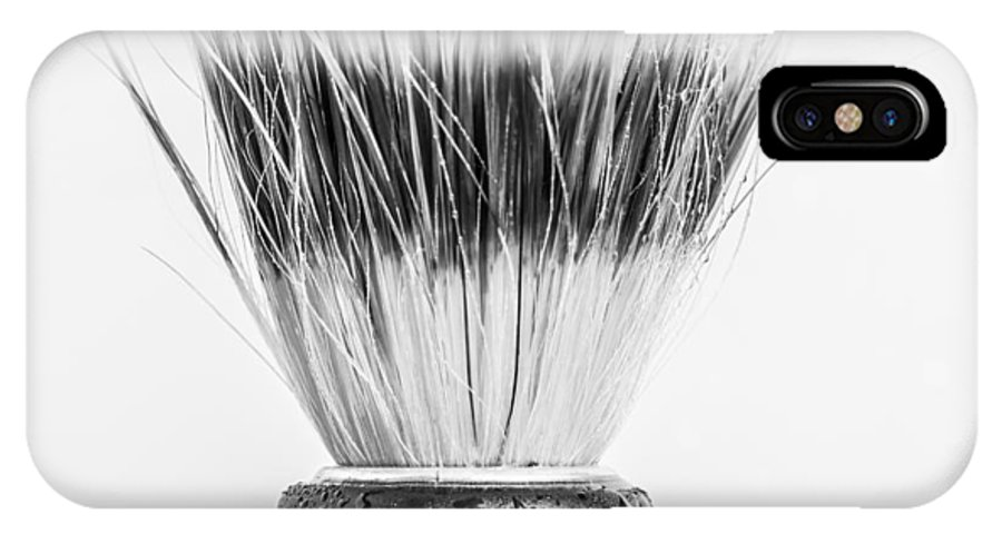 Brush IPhone X Case featuring the photograph Shaving Brush by Gary Gillette