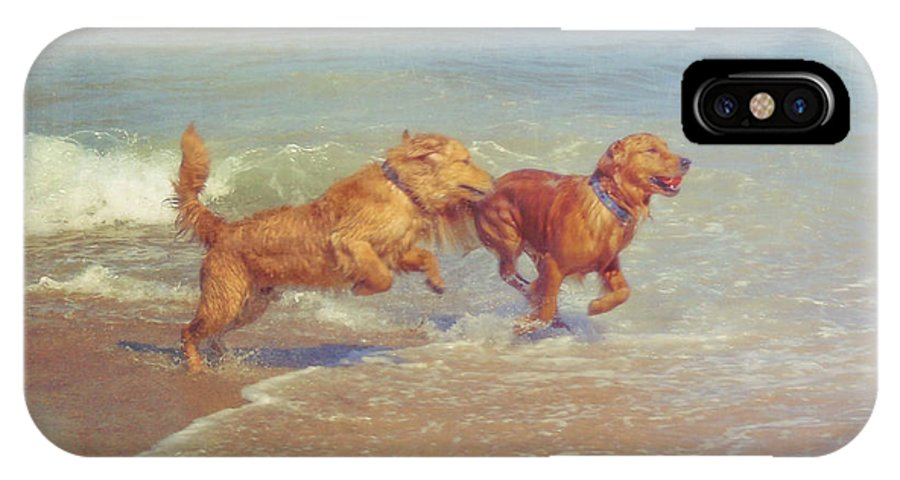 Dog IPhone X Case featuring the photograph Sheer Joy by JAMART Photography