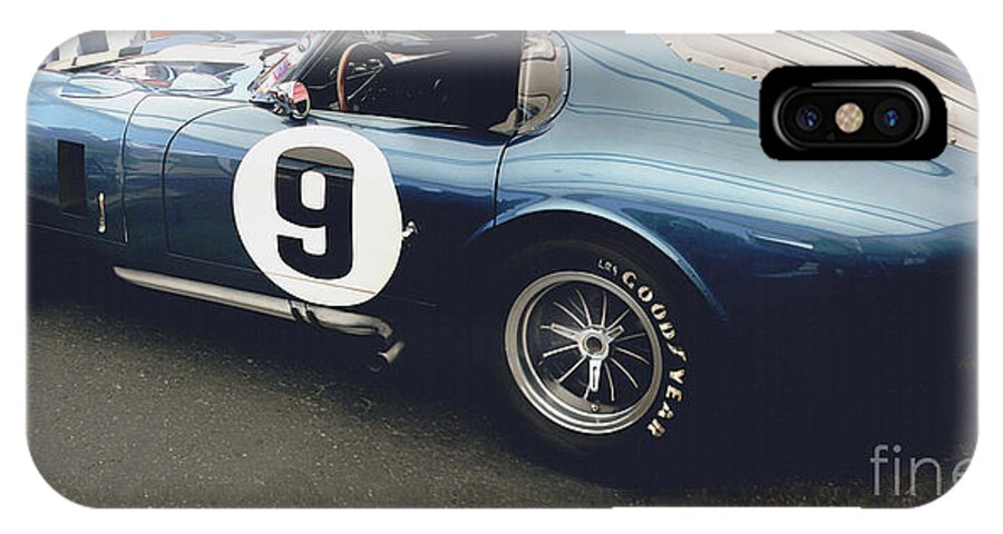 Ford IPhone X Case featuring the photograph Shelby Cobra Daytona Coupe by Curt Johnson