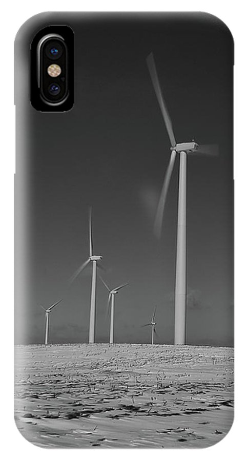 Wind IPhone X Case featuring the photograph Sheldon Wind Farm 14955 by Guy Whiteley