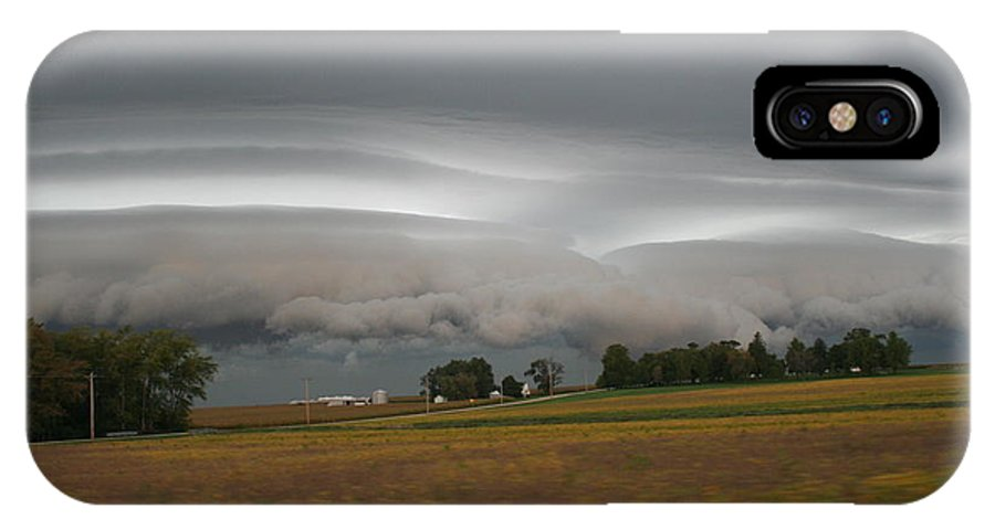Shelf IPhone X Case featuring the photograph Shelf Cloud 6 by Roger Look
