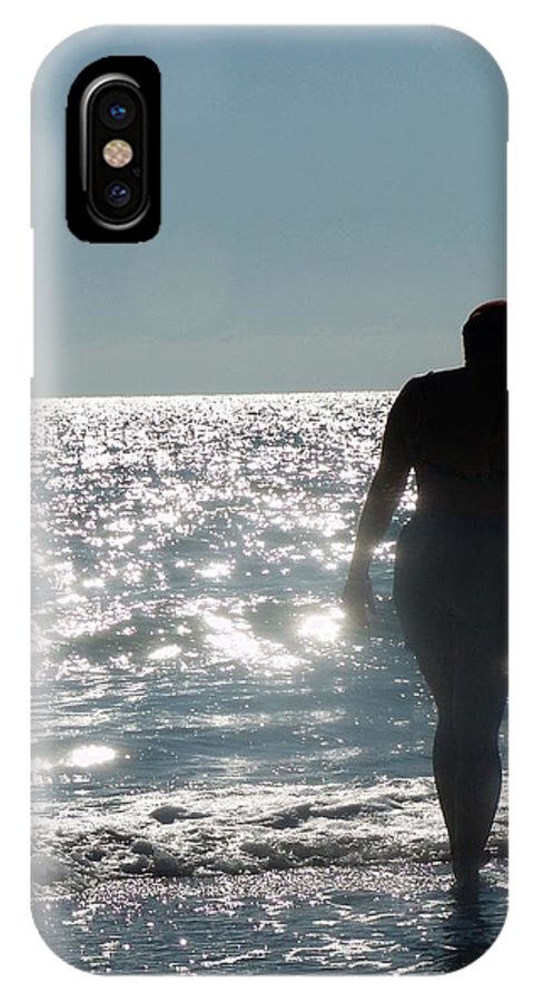 Beach IPhone X Case featuring the photograph Shell Search by Florene Welebny