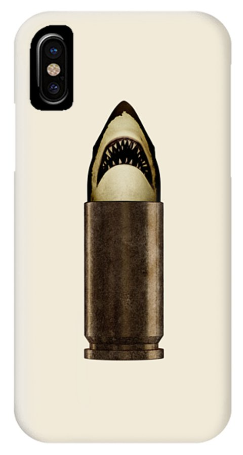 Bullet IPhone X Case featuring the digital art Shell Shark by Nicholas Ely