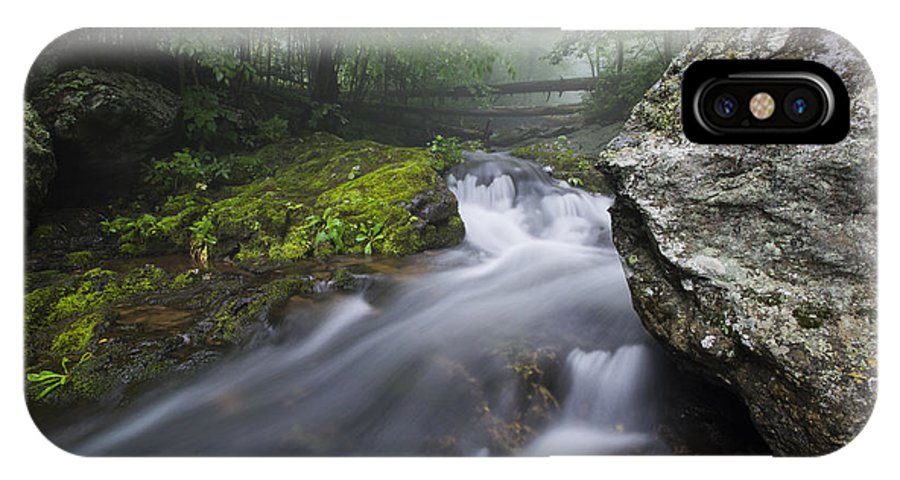 Hogcamp Branch Stream IPhone X Case featuring the photograph Shenandoah Mountain Stream by Dennis Kowalewski