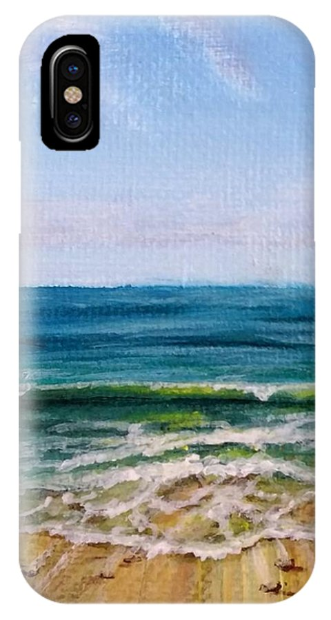 Beach IPhone X Case featuring the painting Shifting Sands by Laura Wilson