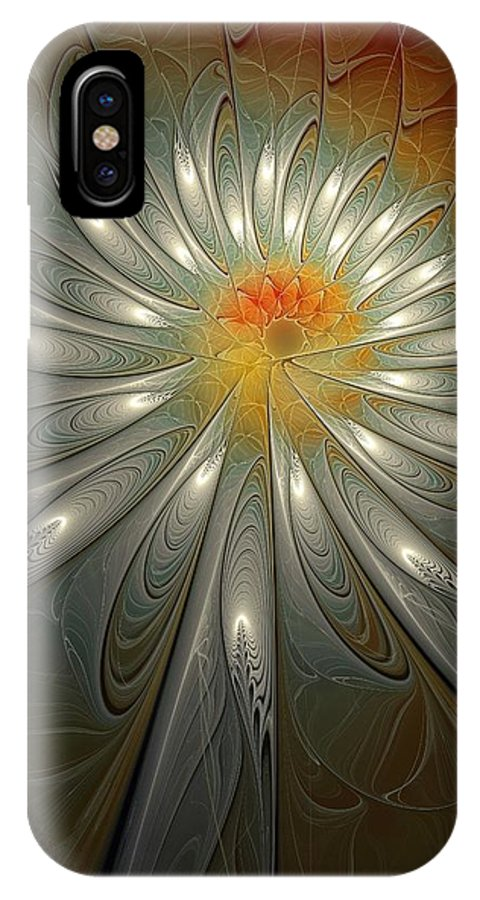 Digital Art IPhone X Case featuring the digital art Shimmer by Amanda Moore