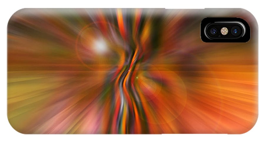 Abstract Art IPhone X Case featuring the digital art Shine On by Linda Sannuti