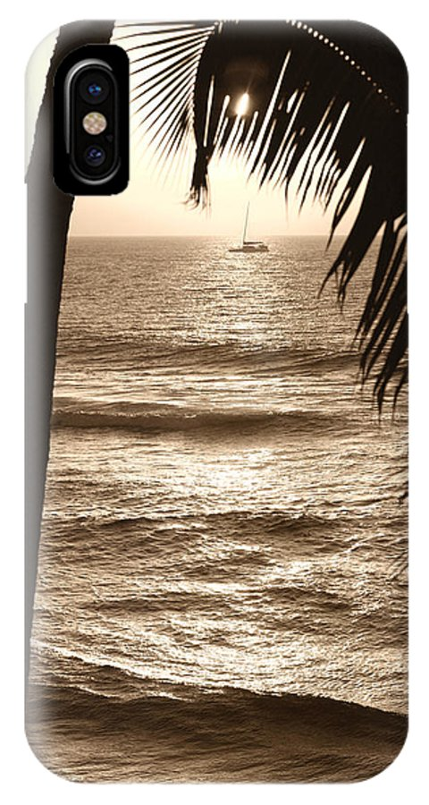 Hawaii IPhone X Case featuring the photograph Ship In Sunset by Marilyn Hunt