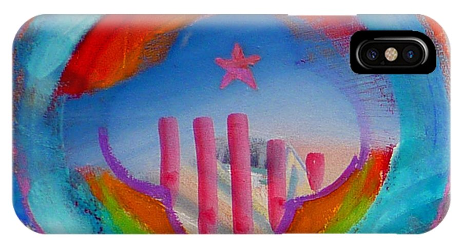 Logo IPhone X Case featuring the painting Ship Of State by Charles Stuart