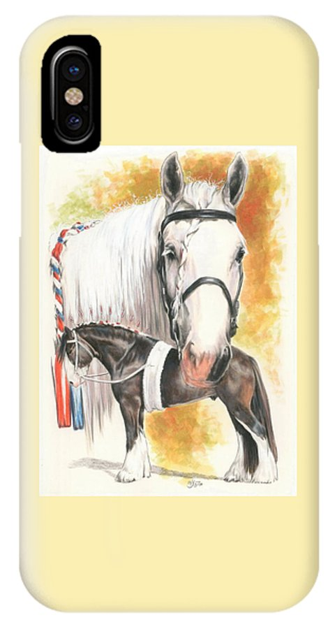Shire IPhone X Case featuring the mixed media Shire by Barbara Keith