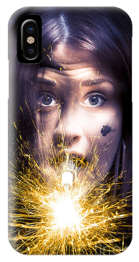 Abstract IPhone X / XS Case featuring the photograph Shocked by Jorgo Photography - Wall Art Gallery