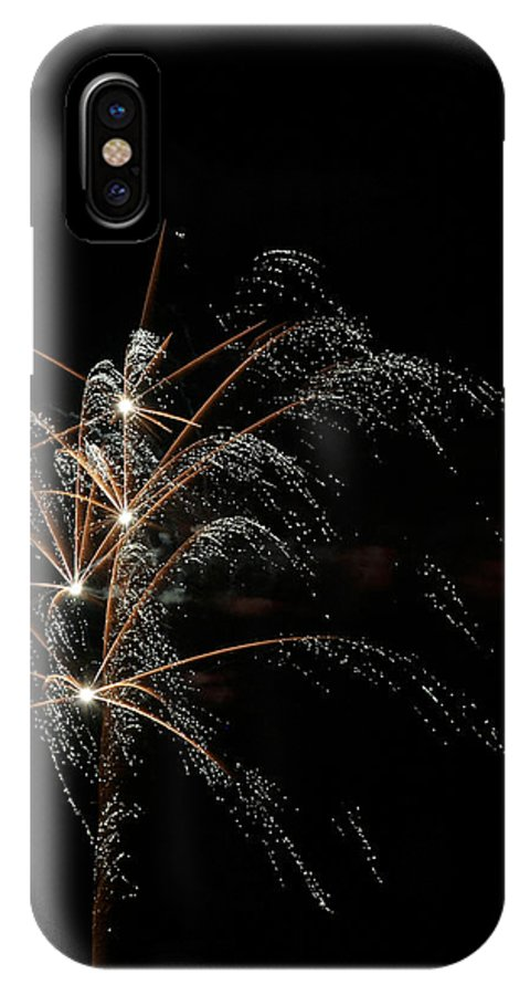 July 4th IPhone X Case featuring the photograph Shooting Stars by Phill Doherty