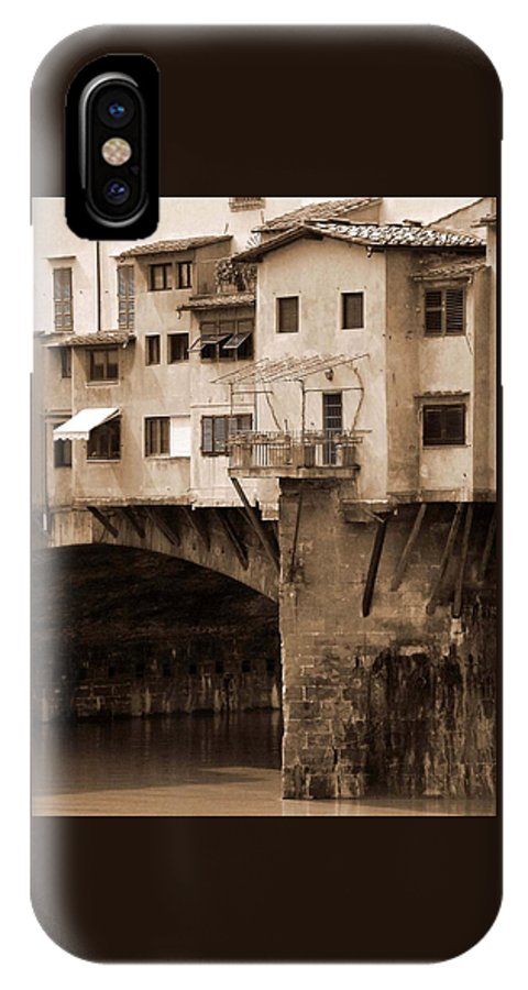 Shops IPhone X Case featuring the photograph Shops On The Ponte Vecchio by Donna Corless