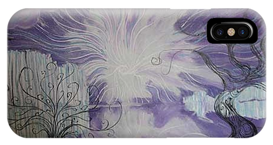Squiggleism IPhone X Case featuring the painting Shore Dance by Stefan Duncan