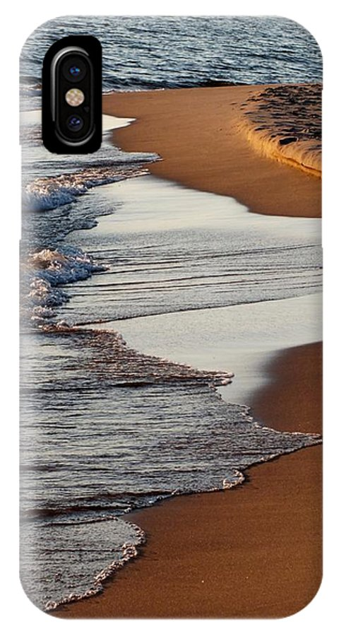 Sunset IPhone X Case featuring the photograph Shore Of Lake Michigan by Sheli Kesteloot