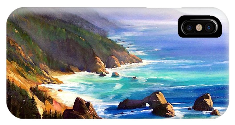 Seascape IPhone Case featuring the painting Shore Trail by Frank Wilson