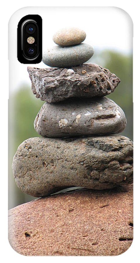 Rocks IPhone X Case featuring the photograph Short Stack by Kelly Mezzapelle