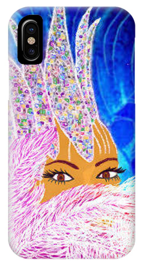 Portraits IPhone X Case featuring the painting Showgirl by Brenda L Spencer