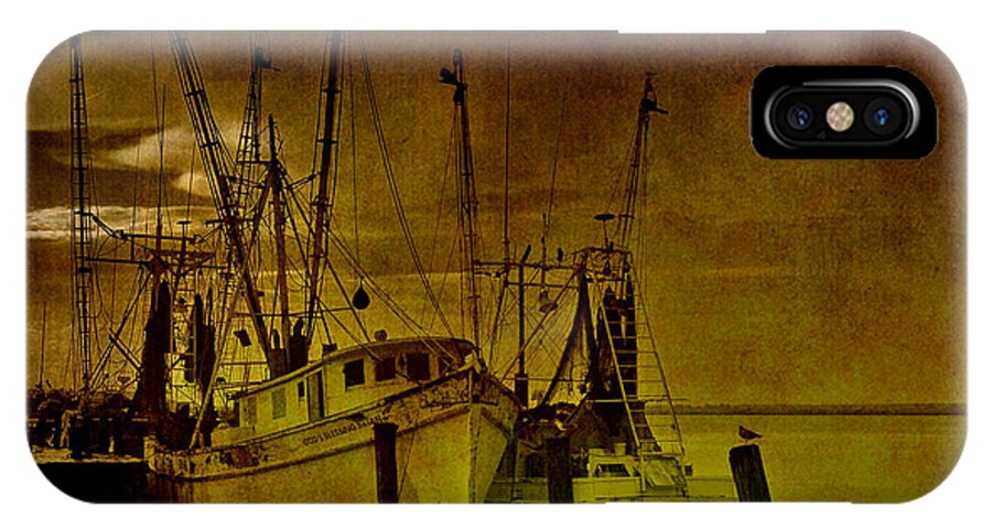Shrimp Boat IPhone X Case featuring the photograph Shrimpboats In Apalachicola by Susanne Van Hulst