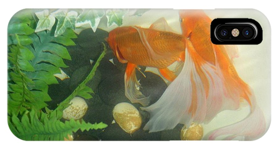 Orange IPhone X Case featuring the photograph Siamese Fighting Fish 2 by Mary Deal