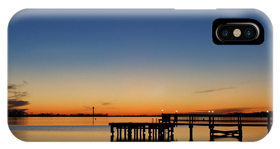Sound IPhone X Case featuring the photograph Calmer Waters by Jennifer Diaz